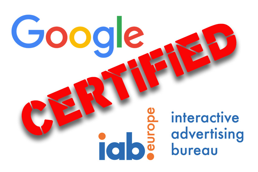 tracking certifié google iab europe